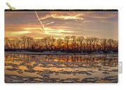Winter River Sunrise Carry-all Pouch