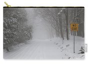Winter Road During Snow Storm Carry-all Pouch