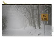 Winter Road During Snowfall I Carry-all Pouch