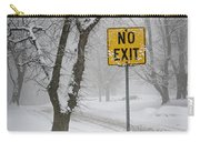 Winter Road During Snowfall IIi Carry-all Pouch