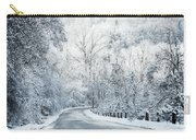 Winter Road In Forest Carry-all Pouch