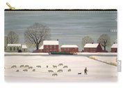 Winter Scene In Lincolnshire Carry-all Pouch by Vincent Haddelsey