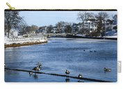 Winter Scene Jersey Shore Town Carry-all Pouch