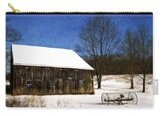 Winter Scenic Farm Carry-all Pouch by Christina Rollo