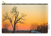 Winter Season Country Sunset Carry-all Pouch