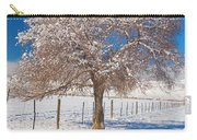 Winter Season On The Plains Portrait Carry-all Pouch