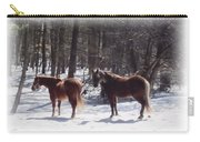 Winter Shadow Horses Carry-all Pouch