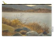 Winter Shoreline Rockland Lake Carry-all Pouch