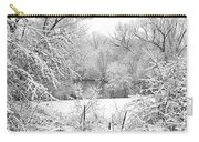 Winter Snow At Huron River Carry-all Pouch