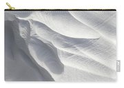 Winter Snow Drift Sculpture  Carry-all Pouch