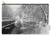 Winter Snow Storm In Somesville Maine Carry-all Pouch