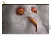 Winter - Snowman - What Are You Looking At Carry-all Pouch by Mike Savad