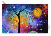 Winter Sparkle Original Madart Painting Carry-all Pouch by Megan Duncanson