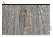 Winter Squirrel Carry-all Pouch