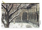 Winter Storm At The Cloisters 3 Carry-all Pouch