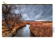 Winter Storm Over Owens River Carry-all Pouch by Cat Connor