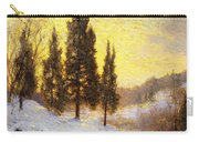 Winter Sundown Carry-all Pouch by Walter Launt Palmer