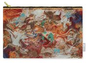 Winter Sunrise Abstract Painting Carry-all Pouch by Julia Apostolova