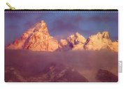 1m9333-winter Sunrise On Teton Range Carry-all Pouch