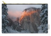 Winter Sunset On El Capitan Carry-all Pouch