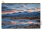 Winter Sunset Reflection Carry-all Pouch
