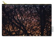 Winter Sunset Silhouette Carry-all Pouch