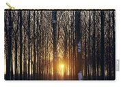 Winter Sunset Through The Trees Carry-all Pouch