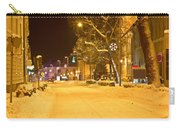 Winter Time Street Scene In Krizevci Carry-all Pouch