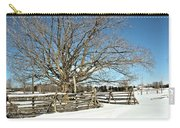 Winter Tree And Fence Carry-all Pouch