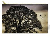 Winter Tree And Ravens Carry-all Pouch