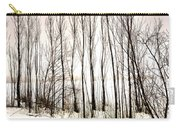 Winter Tree Fence 13283 Carry-all Pouch