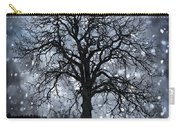 Winter Tree In Snowfall Carry-all Pouch
