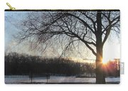 Winter Tree Sunset Carry-all Pouch