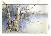 Winter Tree With Birds Carry-all Pouch