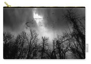 Winter Trees Moving Sky Carry-all Pouch