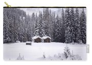Forest Snow Blanketed Privies - Winter In Banff, Alberta Carry-all Pouch