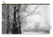 Winter White Season's Greetings Carry-all Pouch by Carol Groenen