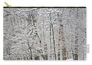 Winter White Trees Carry-all Pouch