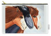 Horse Trio Carry-all Pouch