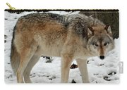 Winter Wolf In The Snow Carry-all Pouch