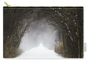 Winter Wonder Snow Tunnel Of Trees Carry-all Pouch