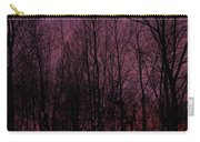 Winter Woods Sunset Carry-all Pouch