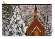 Winter Yosemite Chapel Carry-all Pouch