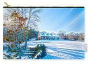 Winters Day Photo Art From The Fence Carry-all Pouch