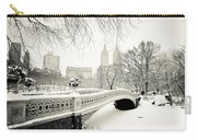 Winter's Touch - Bow Bridge - Central Park - New York City Carry-all Pouch
