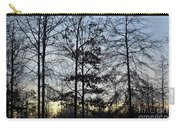 Winter's Trees At Dusk Carry-all Pouch