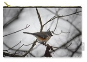 Winter's Tufted Titmouse Carry-all Pouch