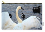 Winter's White Swan Carry-all Pouch