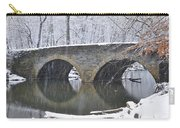 Wintertime At Bells Mill Road Carry-all Pouch by Bill Cannon