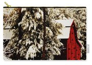 Wintry Red Barn Carry-all Pouch